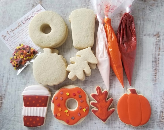 Fall Cookie Decorating KIT Demo link included
