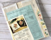 Vintage Better Homes and Gardens Needlepoint Kit, Imperial Pansy Pillow, Candamar Designs, 1970 39 s Crafting