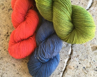 Hand-dyed Sock Yarn - SW Merino/Nylon sock yarn - 410 yds. /100 g
