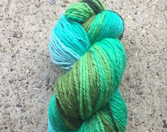 Hand-spun Yarn - Worsted weight - Loop Gradient - approx. 257 yds.