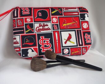 Medium Cosmetic Pouch STL Cardinals Print...Cordelia Collection