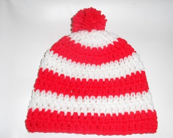 21e6085b116 Baby Waldo Who Red and White Hat  Big Red Pompom on Top so you will know  where your little Waldo is!