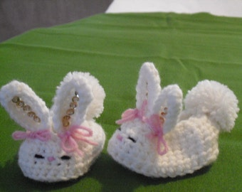 The Cutiest Bunny Booties Sequins and bows! Stylish Unique!