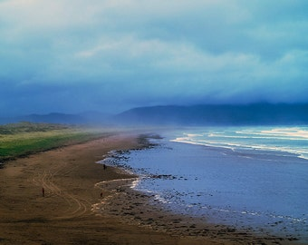 Watching the Approaching Storm- fine art print- fine art photography- Ireland photography- beach photography- nature photography- home decor