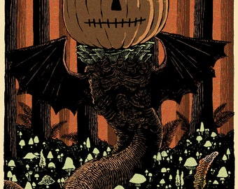 Pumpkin Wurm // Giclee Edition of 50 // Signed & Numbered