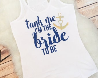 Help Us Tank Her Before She Drop the Anchor Custom Bachelorette Party Favor