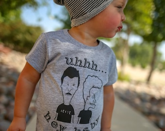 Hey Baby, Beavis, Butthead, Funny 90s Shirt, 90s Kid, Graphic Tee, Trendy Kids Clothes, Toddler Shirt, Boy Clothes, Girl Clothes, T-Shirt