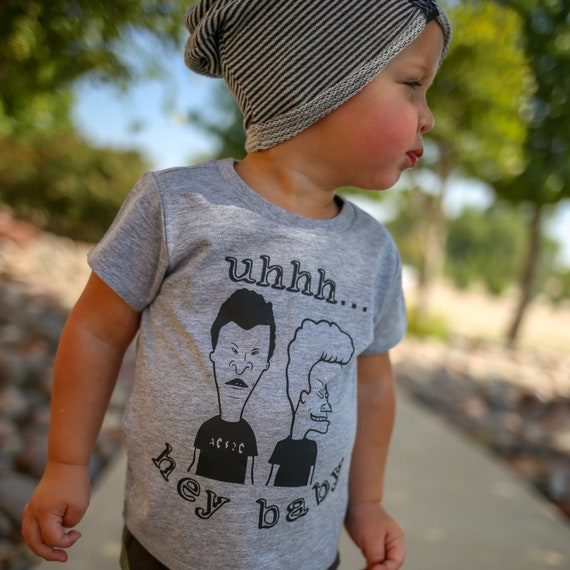 Hey bébé Beavis Butthead drôle 90 s chemise Kid des années  483eeb85bf6