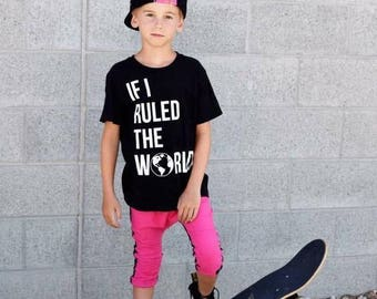 If I Ruled the World globe pre k best friend brothers sisters tee baby sassy girls boys hipster Shirt Bodysuit Infant or Toddler