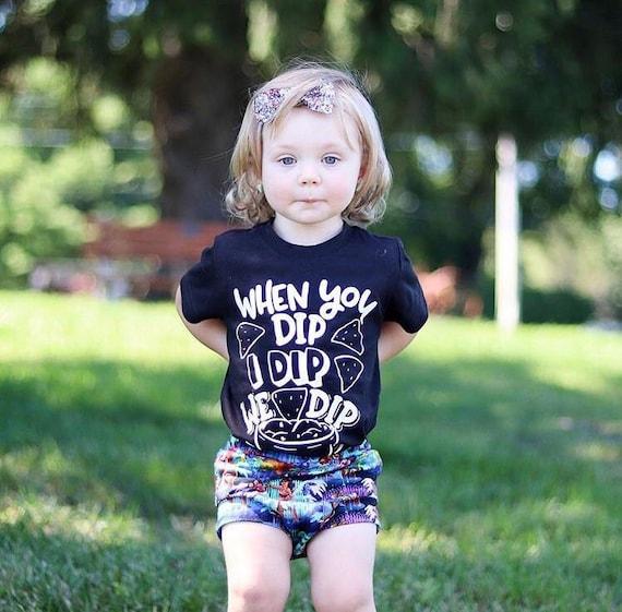 summer shirt funny baby shirt baby bodysuit tshirt bandana bib baby shower gift Superhero When I Dip,You Dip,We Dip ice cream shirt