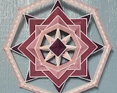 Pink Inversion Kit! Includes Sticks, Yarn, and Downloadable Instructions. Kit for making one 8-sided, 12-inch Mandala Pink Inversion.