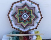 Golden Way Kit! Includes Sticks, Yarn, and Downloadable Instructions for making one 8-sided, 12-inch Mandala called Golden Way