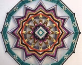 Earth and Fire 18 inch, 12-sided, Ojo de Dios, by Jay New in stock
