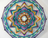 Sound of Silence, a 24 inch, 12-sided, Ojo de Dios Mandala, custom order