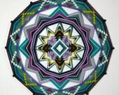 Truth in Beauty, an 18 inch, all wool Ojo de Dios, by Custom Order