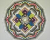 Inner Peace, 12-sided, 24 inch Ojo de Dios, by custom order