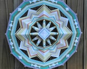 Mojave Moon, 12-sided Ojo de Dios, 18 inches, by custom order