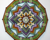 Back to the Center, a 24 inch Ojo de Dios, by custom order