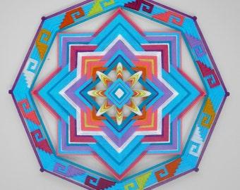 Ancient Wisdom, a 24 inch, Ojo de Dios, custom order
