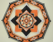 3 colors of your choice, Ojo de Dios, 8-sided, 24 inches, acrylic yarns, by custom order