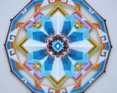 Circle of LIfe, a 24 inch, wool yarn, Ojo de Dios, by custom order