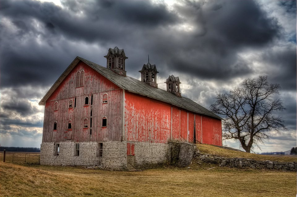 Old Barn Art Photography Red Stormy Skies Rural Etsy