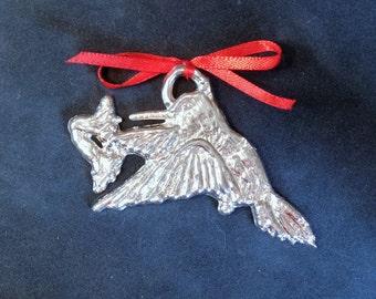 Pewter Hummingbird Ornament