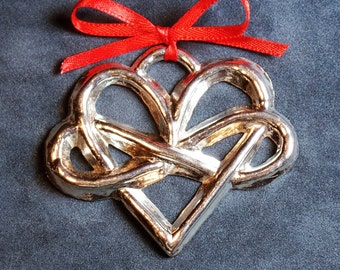 Pewter Infinity Heart Ornament