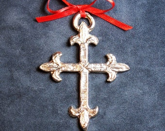Pewter Cross Ornament