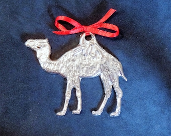 Pewter Camel Ornament