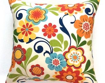 "Pillow covers decorative designer 18""x18"" handmade accent pillow covers floral toss pillows throw pillows cushions"
