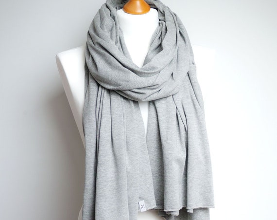 Cotton shawl wrap, gray scarf, women scarf, spring autumn accessories, eco friendly scarf shawl wrap, cotton wrap, cotton shawl, travel wrap