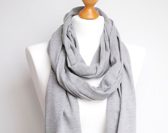 LONG skinny Cotton SCARF, skinny gray scarf, women scarf, spring scarf, ecofriendly scarf shawl wrap, cotton wrap, cotton shawl, travel wrap