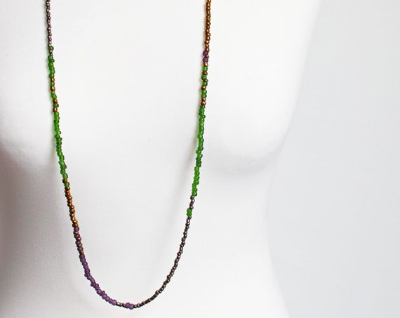 LONG beaded necklace for women, statement necklace, long boho necklace  for women, beaded necklaces