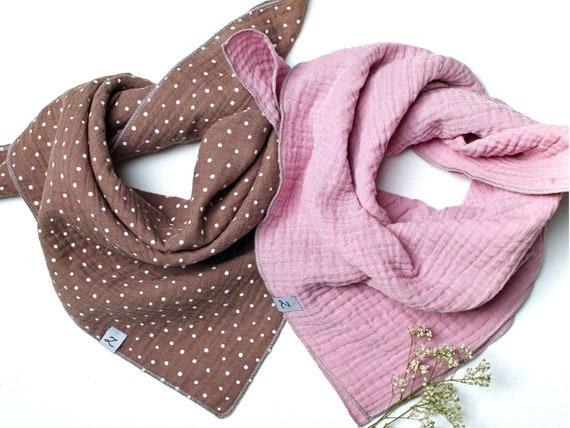 Cotton muslin neck scarf bandana face mask - SET of TWO , cotton bandana RECTANGLE scarf  soft neck scarf bandana scarfs