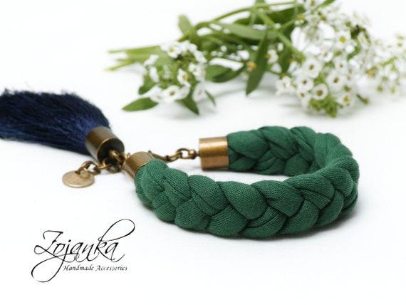 Braided cotton bracelet for women, summer bracelet cotton, colorful bracelet jersey fabric, braided bracelets, friendship bracelet