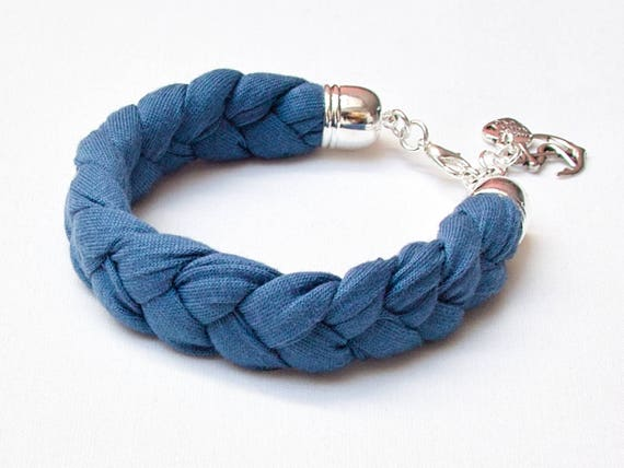 TASSEL bracelet, cotton  bracelet, summer accessories, braided bracelet upcycled jersey, bracelet with tassel, braided bracelet