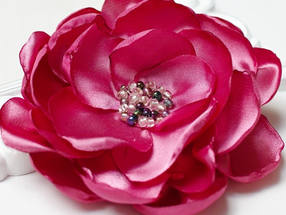 LARGE flower Pin brooch for (dress) handmade fabric floral brooch, women accessories, flower pin button for dresses