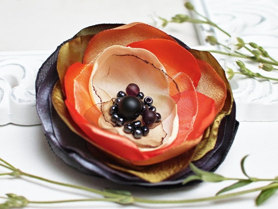 Handmade colorful flower pin brooch for (dress), fabric floral brooch, women accessories, flower pin button, small gift ideas