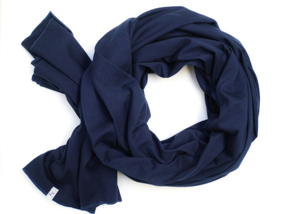 Cotton SHAWL wrap for women, large cotton wrap, navy blue scarf, nautical scarf handmade, cotton wrap, cotton, scarf, marine scarf