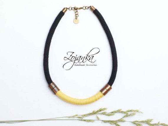 Textile necklace - short necklace - women textile necklace -necklace for her - simple necklace - necklaces for women - colorful necklaces