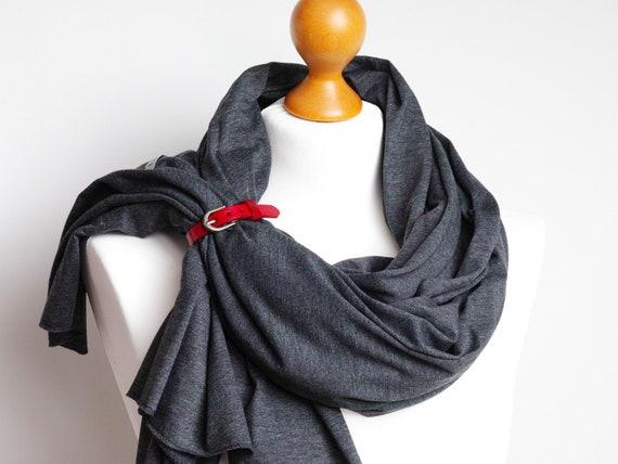 Cotton shawl wrap for women, dark gray cotton scarf, autumn scarf accessories accessories, ecofriendly scarf handmade, cotton travel wrap