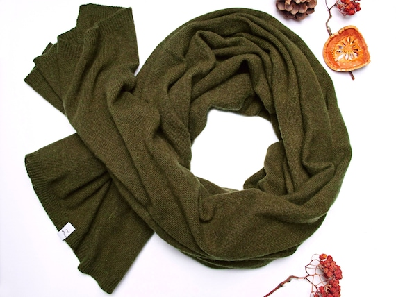 Winter wool scarf KHAKI scarf, wool scarf for women, gift ideas for her, winter fashion accessories, scarf for winter, shawl wrap