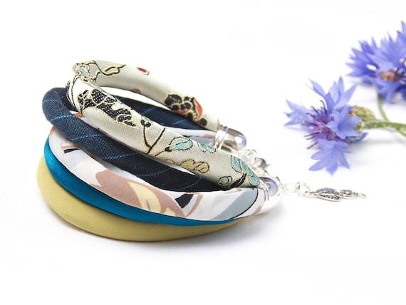 FABRIC bracelet, fashion accessories, upcycled fabric bracelet, colorful summer bracelet, summer accessories, zojanka