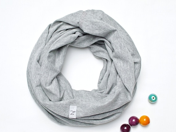 GRAY cotton KIDS Infinity SCARF, kids scarf  Loop scarf for 3-6 years old, kids scarves, lighweight kids scarf