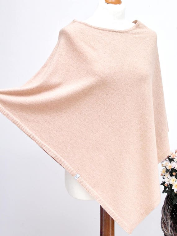 PONCHO wrap, poncho cape, AUTUMN fashion, gift ideas, autumn fashion accessories, poncho S/M size, wool poncho in dusty pink colour