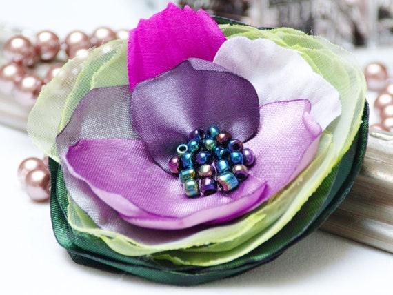 FLORAL PIN Petal Flower Pin Organza Satin handmade fabric brooch, flower brooch pin, women accessories, gift ideas