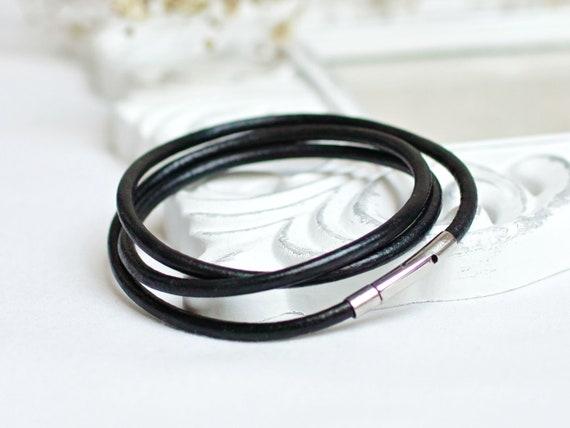 minimalist leather cord bracelet for women, leather cord bracelet, boho style leather bracelet for women, stacking bracelets
