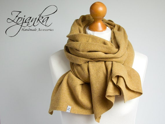 Wool scarf, honey yellow scarf,  WINTER fashion, gift ideas, winter fashion accessories, gift ideas for her, christmas gift for mum