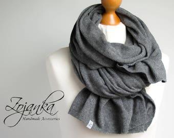 Wool scarf shawl wrap, gray scarf women, soft scarf warm shawl WINTER fashion, gift ideas, winter fashion accessories, gift for her
